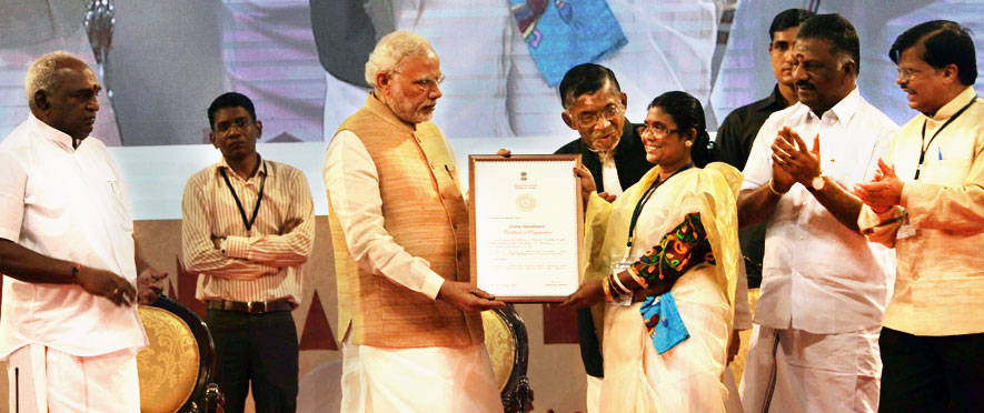 SANT KABIR AWARDS TO WEAVERS FOR OUTSTANDING CONTRIBUTIONS